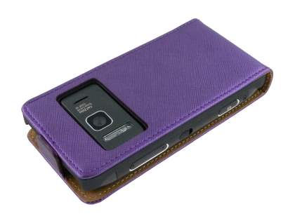 Nokia N8 Slim Synthetic Leather Flip Case - Purple