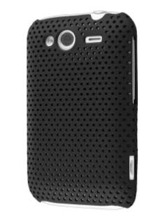 Slim Mesh Case for HTC Wildfire S - Black Hard Case