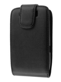 Synthetic Leather Flip Case for BlackBerry Torch 9810/9800 - Black Leather Flip Case