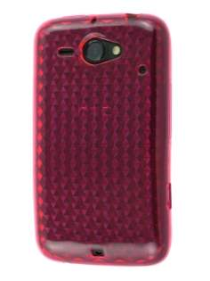 HTC ChaCha TPU Gel Case - Diamond Pink Soft Cover