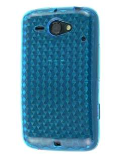 HTC ChaCha TPU Gel Case - Diamond Blue Soft Cover