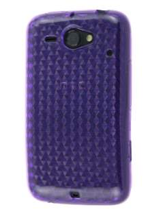 HTC ChaCha TPU Gel Case - Diamond Purple Soft Cover