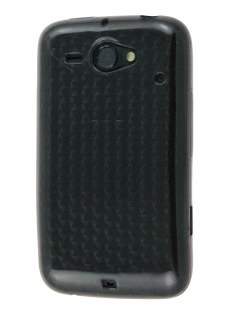 HTC ChaCha TPU Gel Case - Diamond Grey Soft Cover