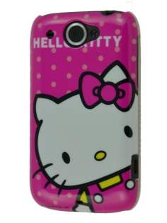 Hello Kitty Back Case for HTC Wildfire G8 - White/Pink