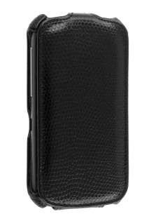 HTC Desire S Slim Synthetic Leather Flip Case - Black