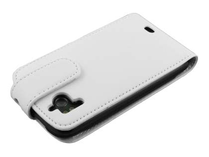 HTC Sensation Synthetic Leather Flip Case - White
