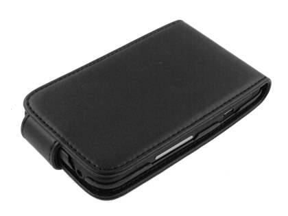 HTC ChaCha Synthetic Leather Flip Case - Black