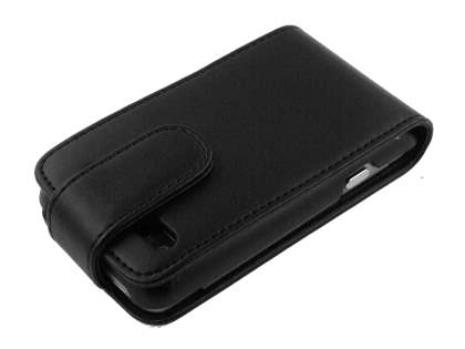HTC Salsa Synthetic Leather Flip Case - Black