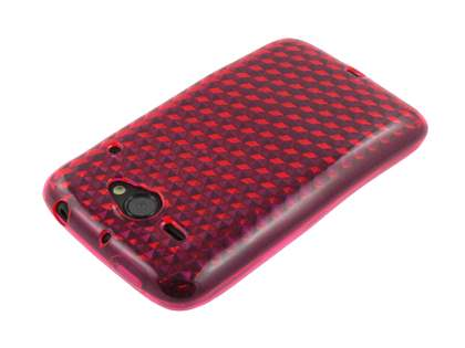 TPU Gel Case for HTC ChaCha - Diamond Pink