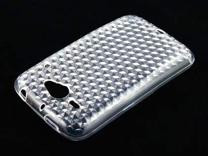 TPU Gel Case for HTC ChaCha - Diamond Clear
