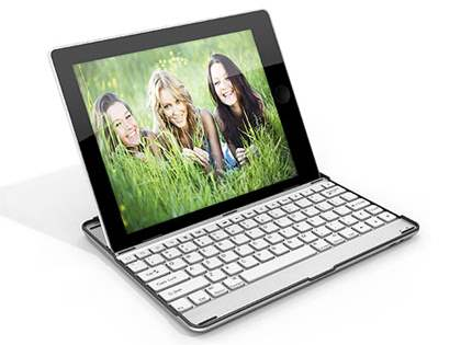 Aluminium Bluetooth Keyboard for iPad 2/3/4 - White Keyboard