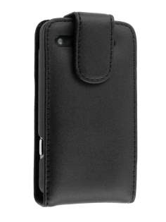 Genuine Leather Flip Case for HTC Salsa - Black Leather Flip Case