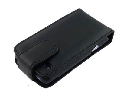 HTC Salsa Genuine Leather Flip Case - Black