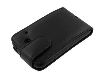 HTC ChaCha Genuine Leather Flip Case - Black