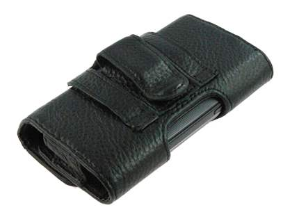Samsung Galaxy Fit S5670 Synthetic Leather Belt Pouch - Black
