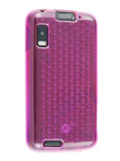 TPU Gel Case for Motorola ATRIX 4G MB860 - Diamond Pink Soft Cover