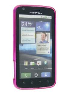 TPU Gel Case for Motorola ATRIX 4G MB860 - Diamond Pink