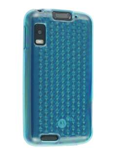 TPU Gel Case for Motorola ATRIX 4G MB860 - Diamond Blue Soft Cover