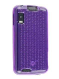 TPU Gel Case for Motorola ATRIX 4G MB860 - Diamond Purple Soft Cover