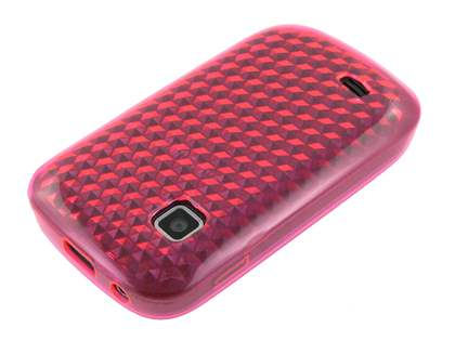 TPU Gel Case for Samsung Galaxy Fit S5670 - Diamond Pink