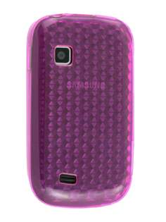 TPU Gel Case for Samsung Galaxy Fit S5670 - Diamond Violet Soft Cover