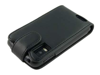 Synthetic Leather Flip Case for Motorola ATRIX 4G MB860 - Black