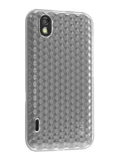 TPU Gel Case for LG Optimus Black P970 - Diamond Clear Soft Cover