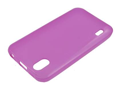 LG Optimus Black P970 TPU Gel Case - Grape Purple