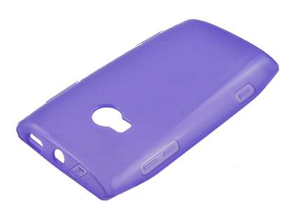 Nokia X7 TPU Gel Case - Frosted Purple