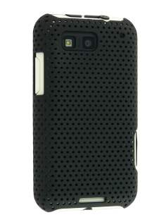 Slim Mesh Case for Motorola DEFY ME525 - Black Hard Case
