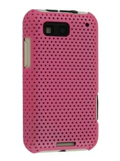 Slim Mesh Case for Motorola DEFY ME525 - Pink Hard Case