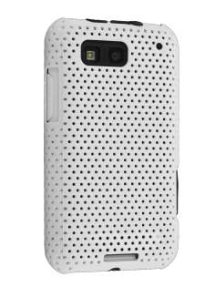 Slim Mesh Case for Motorola DEFY ME525 - White Hard Case