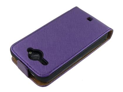 HTC ChaCha Slim Synthetic Leather Flip Case - Purple