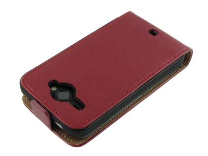 HTC ChaCha Slim Synthetic Leather Flip Case - Red