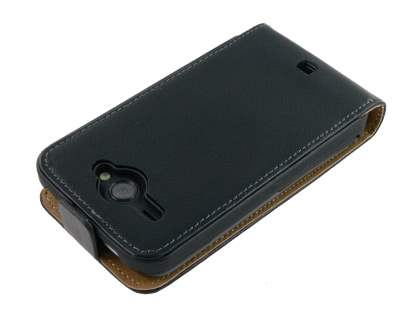 HTC ChaCha Slim Synthetic Leather Flip Case - Black