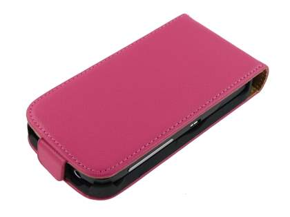 HTC Desire S Slim Synthetic Leather Flip Case - Pink