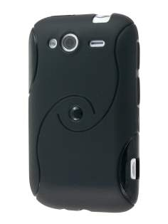HTC Wildfire S Wave Case - Black Soft Cover