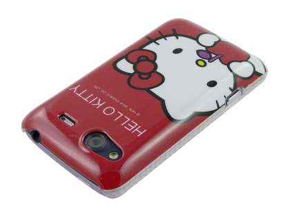 HTC Salsa Hello Kitty Back Case - White/Red