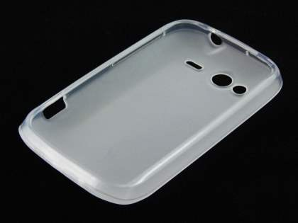 HTC Wildfire S TPU Gel Case - Frosted Clear