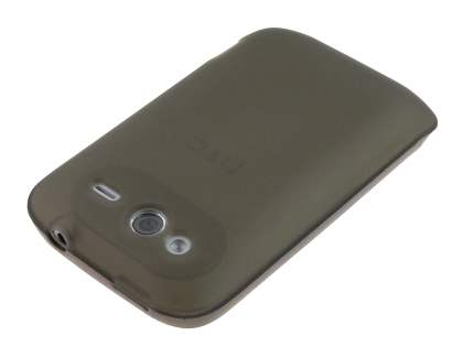 HTC Wildfire S TPU Gel Case - Frosted Grey