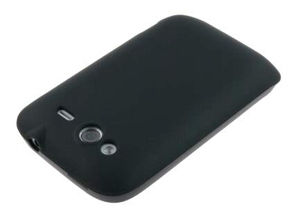HTC Wildfire S TPU Gel Case - Frosted Black
