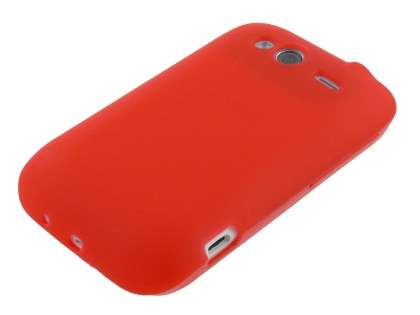 HTC Wildfire S TPU Gel Case - Frosted Red