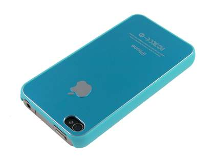 Brushed Aluminium Case for iPhone 4 Only - Tender Blue
