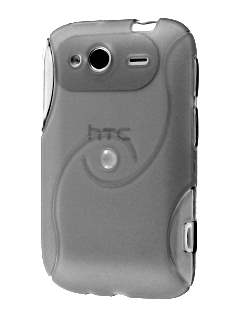 HTC Wildfire S Wave Case - Frosted Clear Soft Cover
