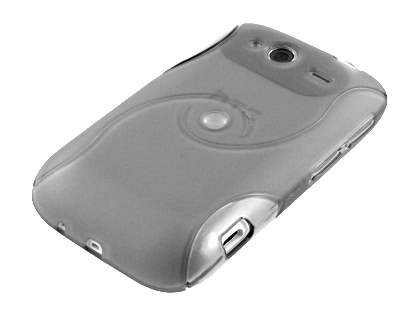 HTC Wildfire S Wave Case - Frosted Clear