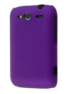 Micro Mesh Case for HTC Wildfire S - Grape Purple Hard Case