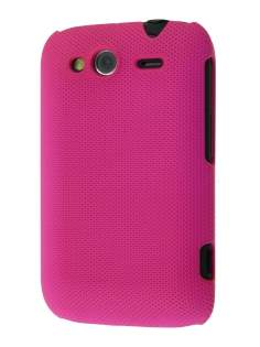Micro Mesh Case for HTC Wildfire S - Cerise Pink Hard Case