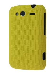 Micro Mesh Case for HTC Wildfire S - Canary Yellow Hard Case