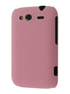 Micro Mesh Case for HTC Wildfire S - Light Pink Hard Case