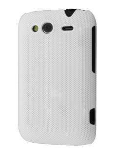 Micro Mesh Case for HTC Wildfire S - Pearl White Hard Case